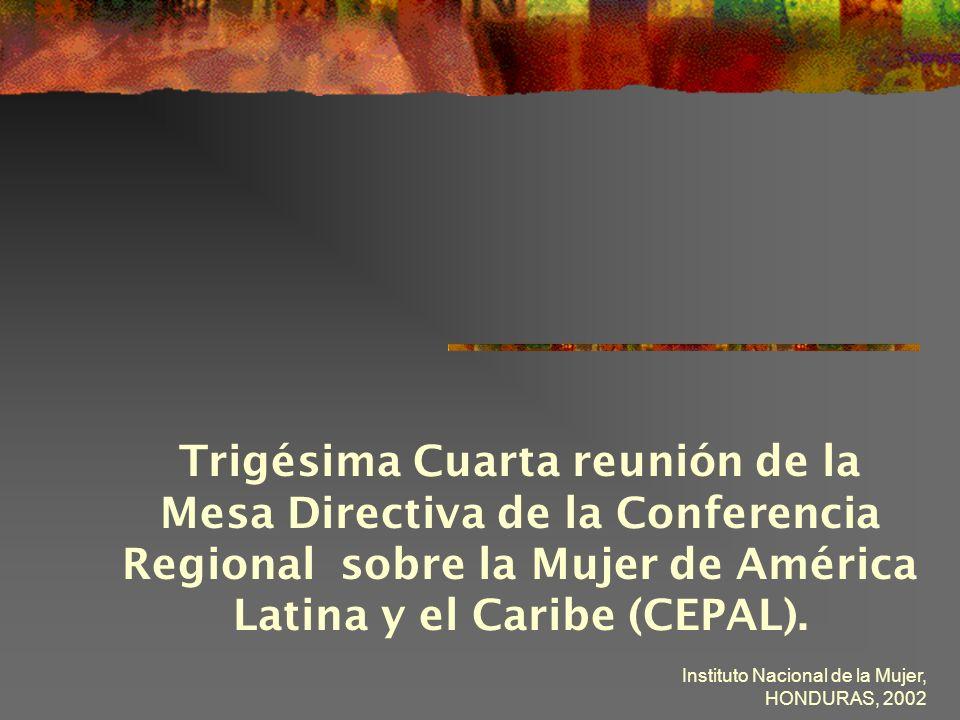 Trigésima Cuarta reunión de la Mesa Directiva de la Conferencia Regional sobre la Mujer de América Latina y el Caribe (CEPAL).
