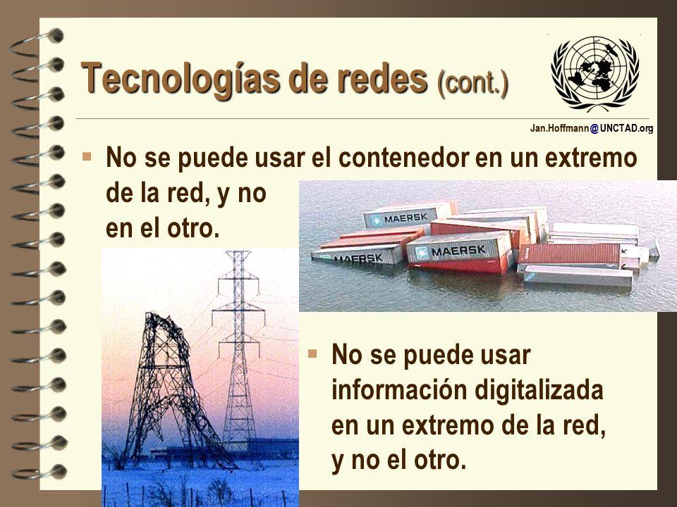 Tecnologías de redes (cont.)