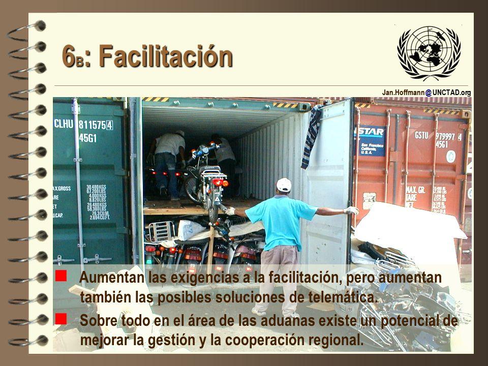 6B: Facilitación Aumentan las exigencias a la facilitación, pero aumentan también las posibles soluciones de telemática.