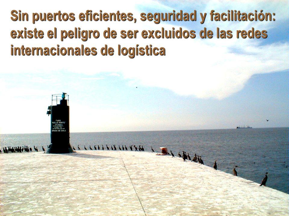 Sin puertos eficientes, seguridad y facilitación: existe el peligro de ser excluidos de las redes internacionales de logística