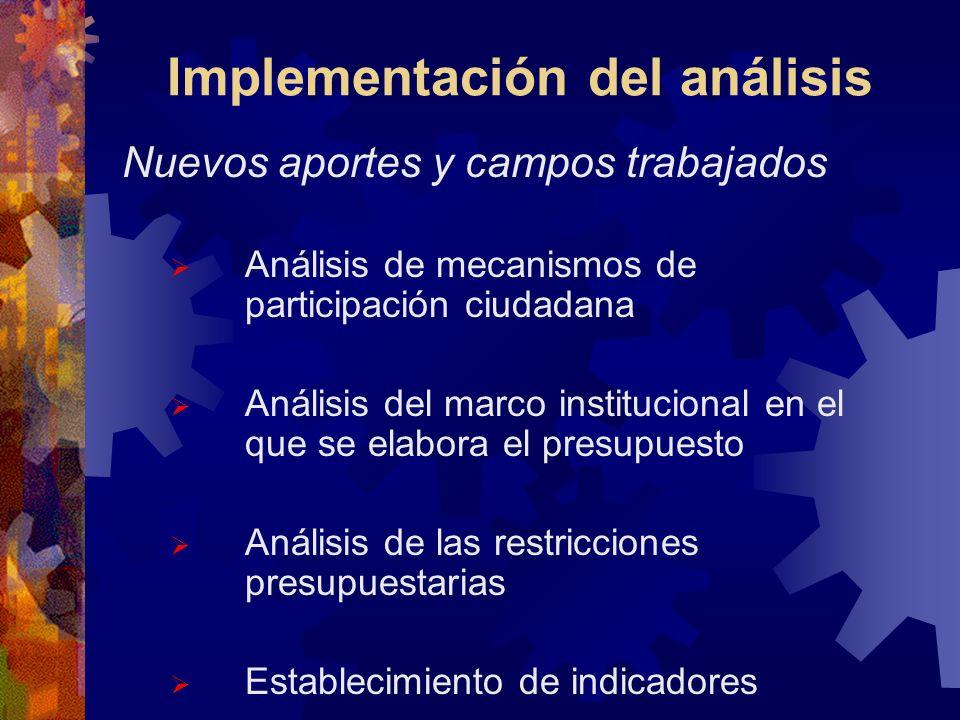 Implementación del análisis