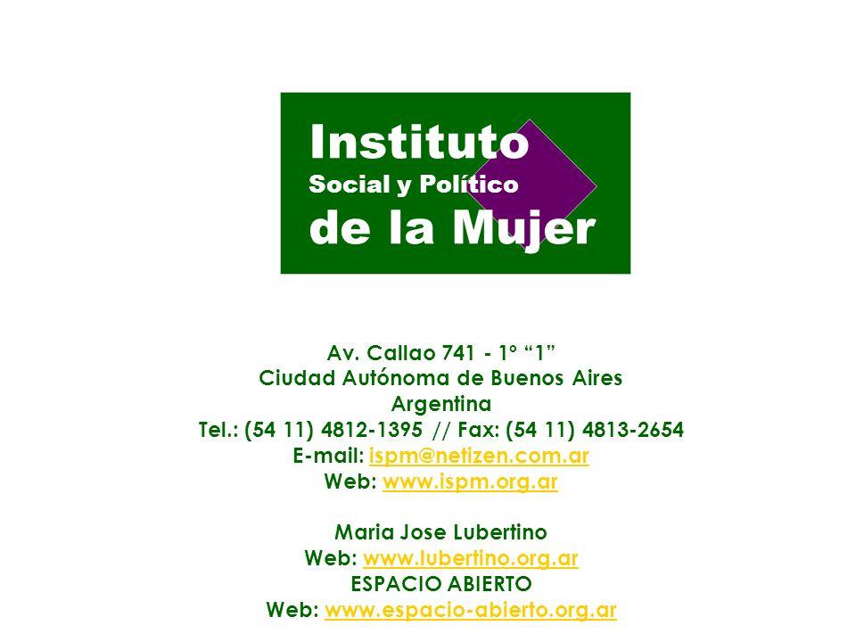 Ciudad Autónoma de Buenos Aires E-mail: ispm@netizen.com.ar