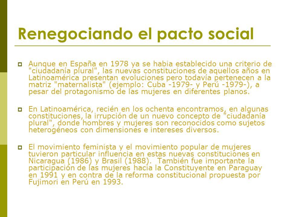 Renegociando el pacto social