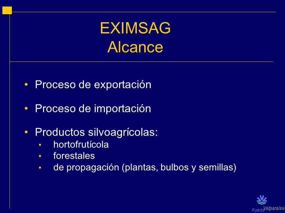 EXIMSAG Alcance Proceso de exportación Proceso de importación