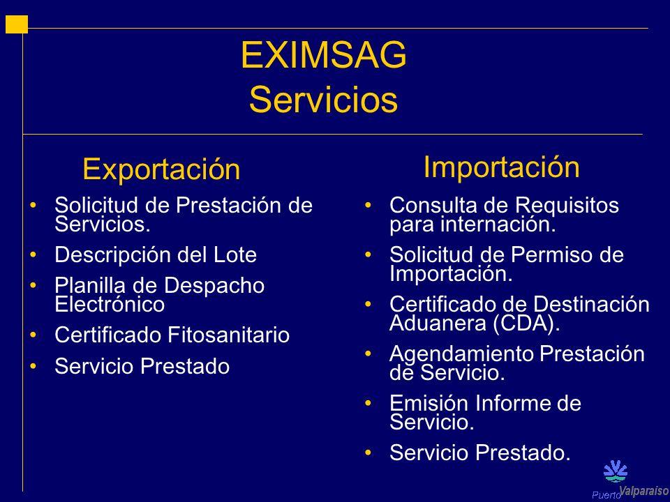 EXIMSAG Servicios Exportación Importación