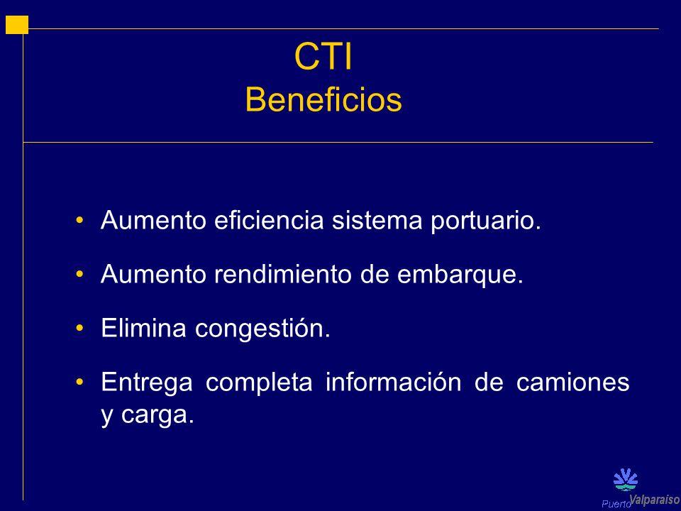 CTI Beneficios Aumento eficiencia sistema portuario.