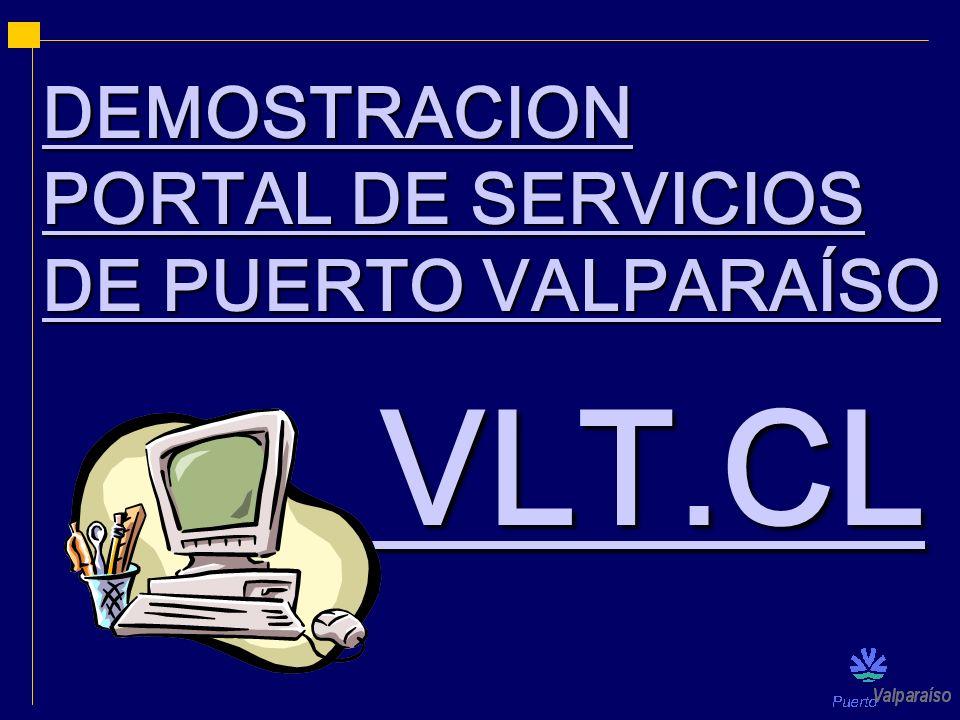 DEMOSTRACION PORTAL DE SERVICIOS DE PUERTO VALPARAÍSO