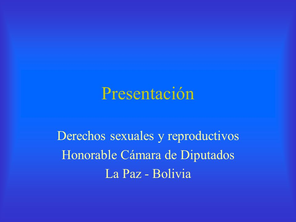 Presentación Derechos sexuales y reproductivos