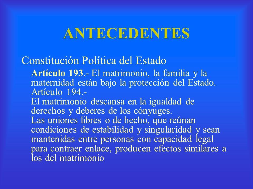 ANTECEDENTES Constitución Política del Estado