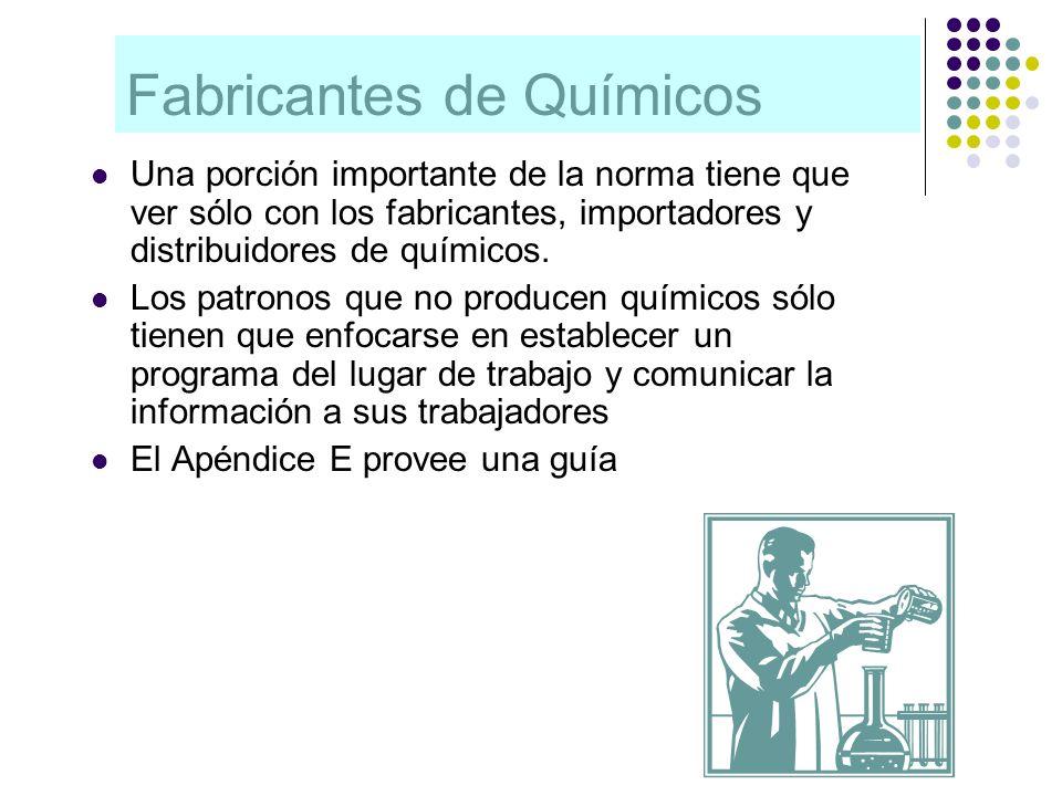 Fabricantes de Químicos