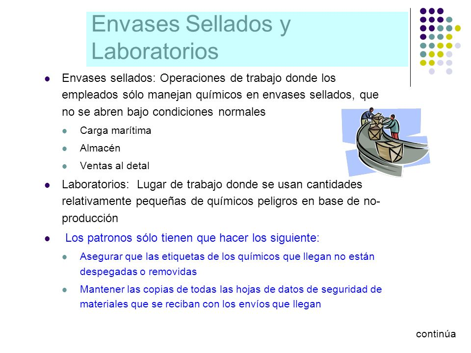 Envases Sellados y Laboratorios