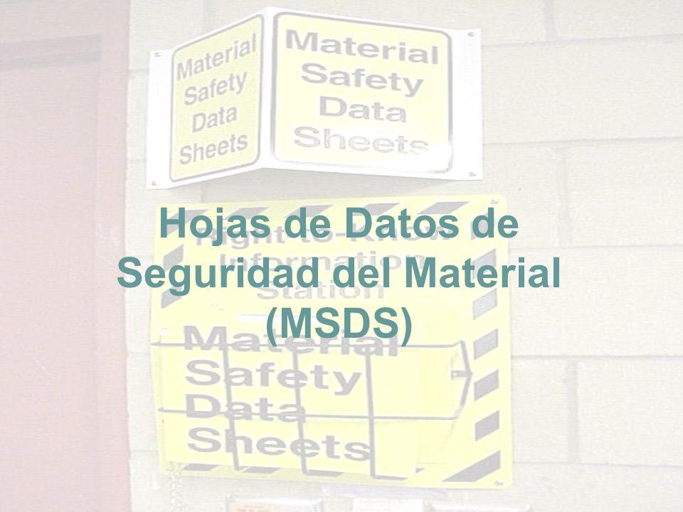 Hojas de Datos de Seguridad del Material