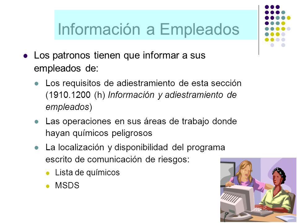 Información a Empleados