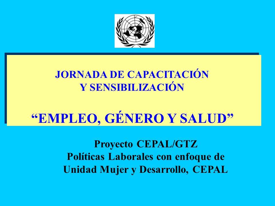 EMPLEO, GÉNERO Y SALUD