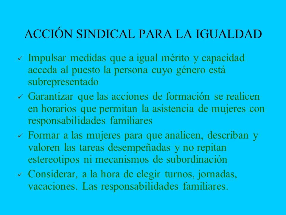 ACCIÓN SINDICAL PARA LA IGUALDAD