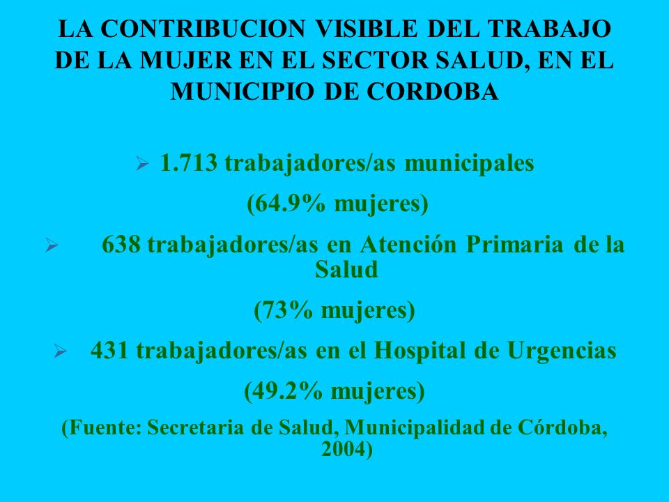 1.713 trabajadores/as municipales (64.9% mujeres)