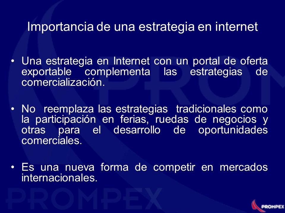 Importancia de una estrategia en internet