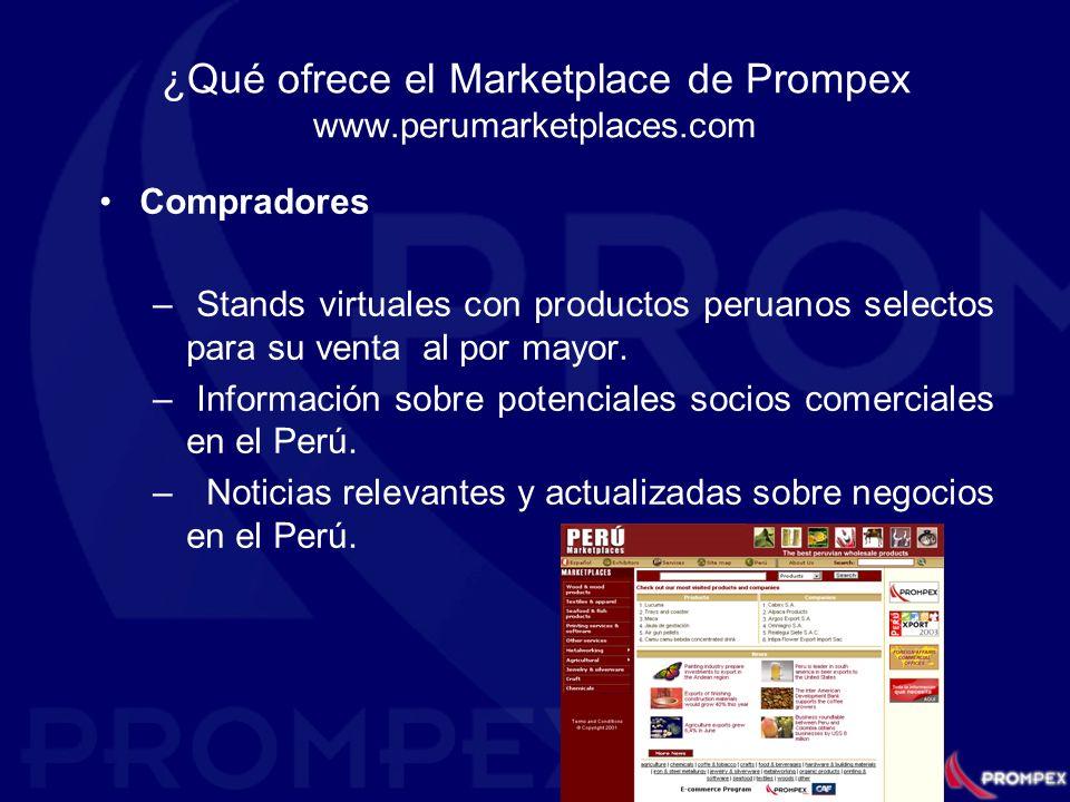 ¿Qué ofrece el Marketplace de Prompex www.perumarketplaces.com