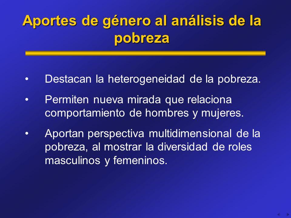 Aportes de género al análisis de la pobreza