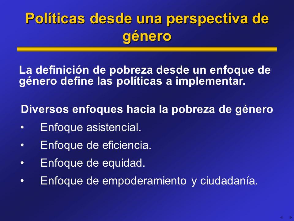 Políticas desde una perspectiva de género