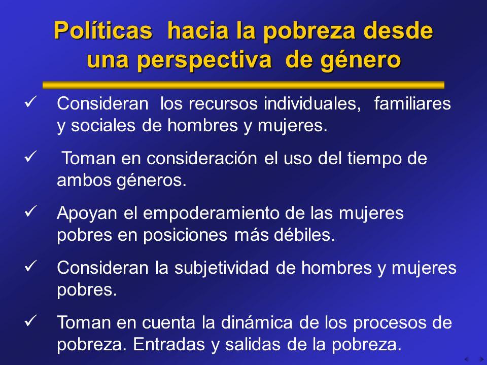 Políticas hacia la pobreza desde una perspectiva de género