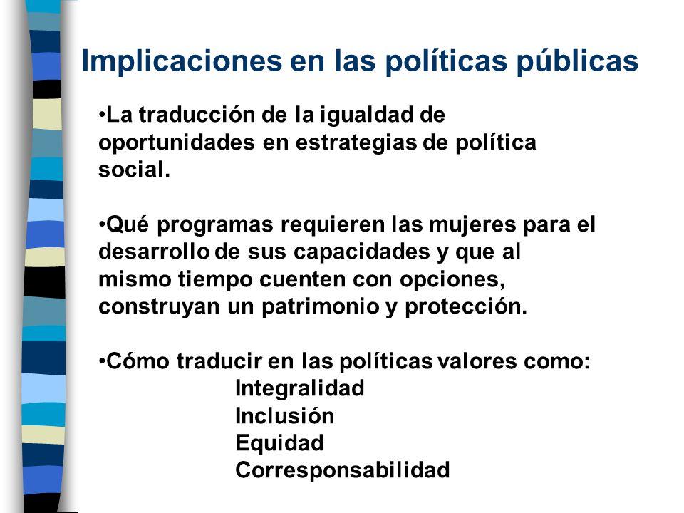 Implicaciones en las políticas públicas