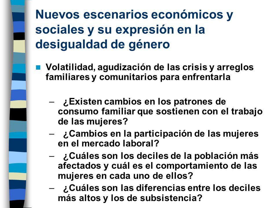 Nuevos escenarios económicos y sociales y su expresión en la desigualdad de género