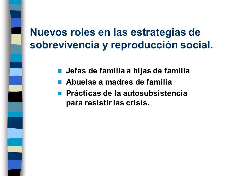 Nuevos roles en las estrategias de sobrevivencia y reproducción social.