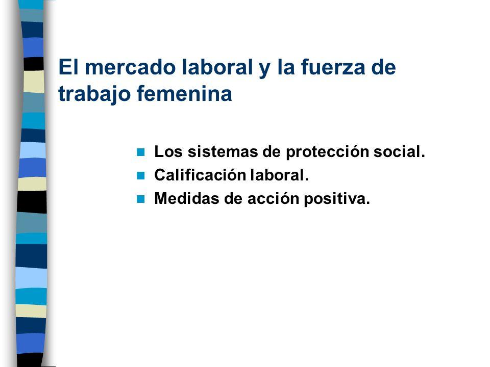 El mercado laboral y la fuerza de trabajo femenina