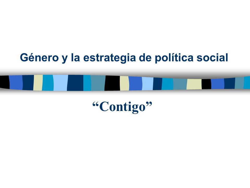 Género y la estrategia de política social
