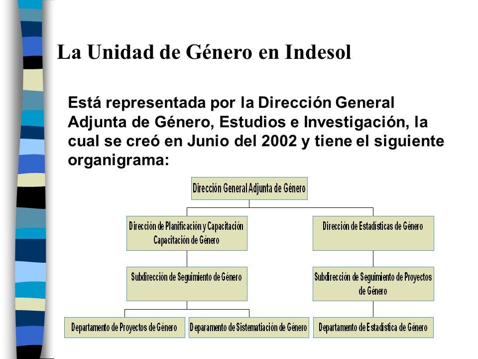 La Unidad de Género en Indesol