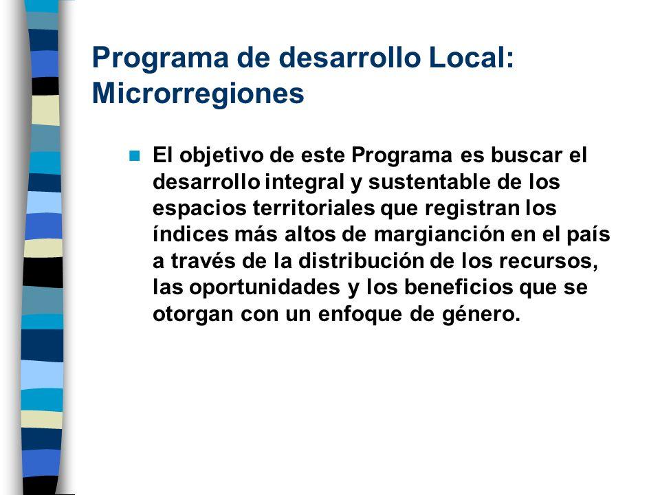 Programa de desarrollo Local: Microrregiones