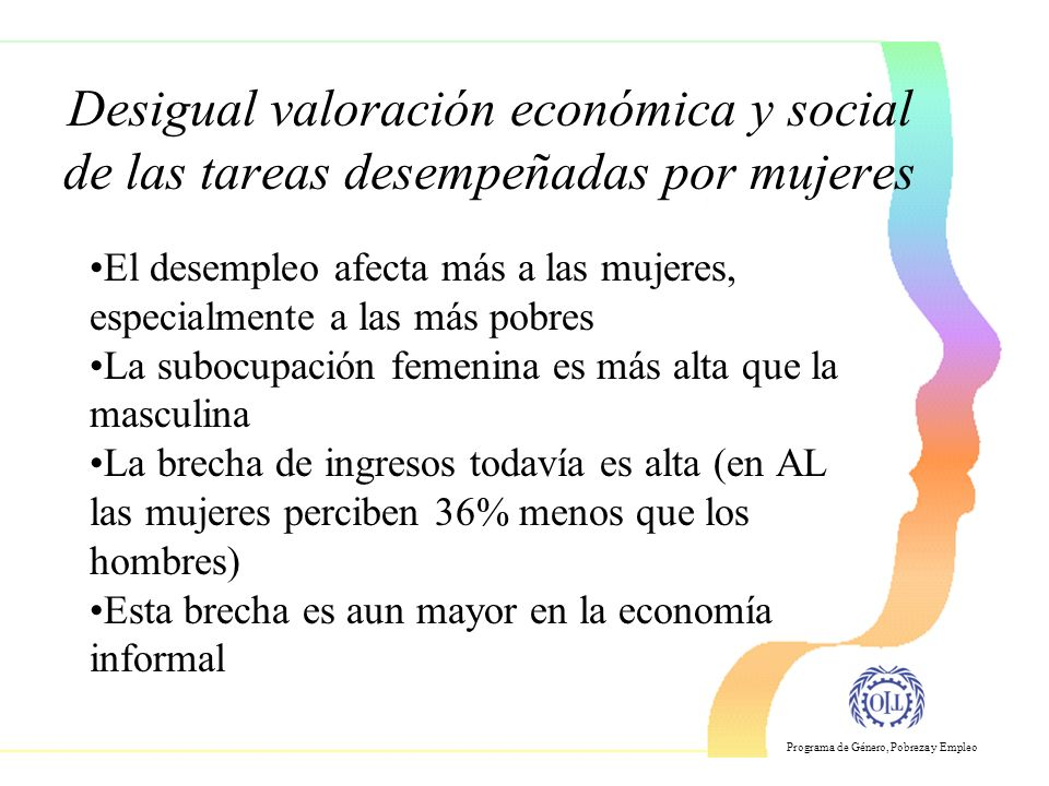 Desigual valoración económica y social de las tareas desempeñadas por mujeres