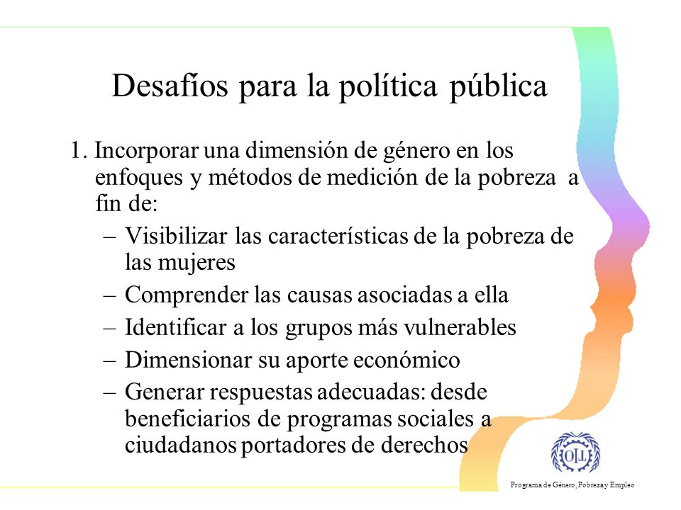 Desafíos para la política pública
