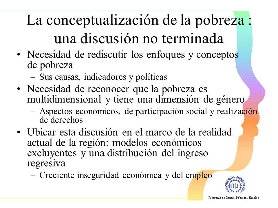La conceptualización de la pobreza : una discusión no terminada