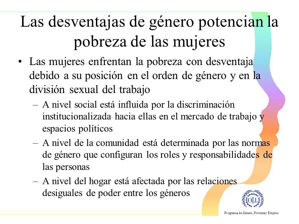 Las desventajas de género potencian la pobreza de las mujeres