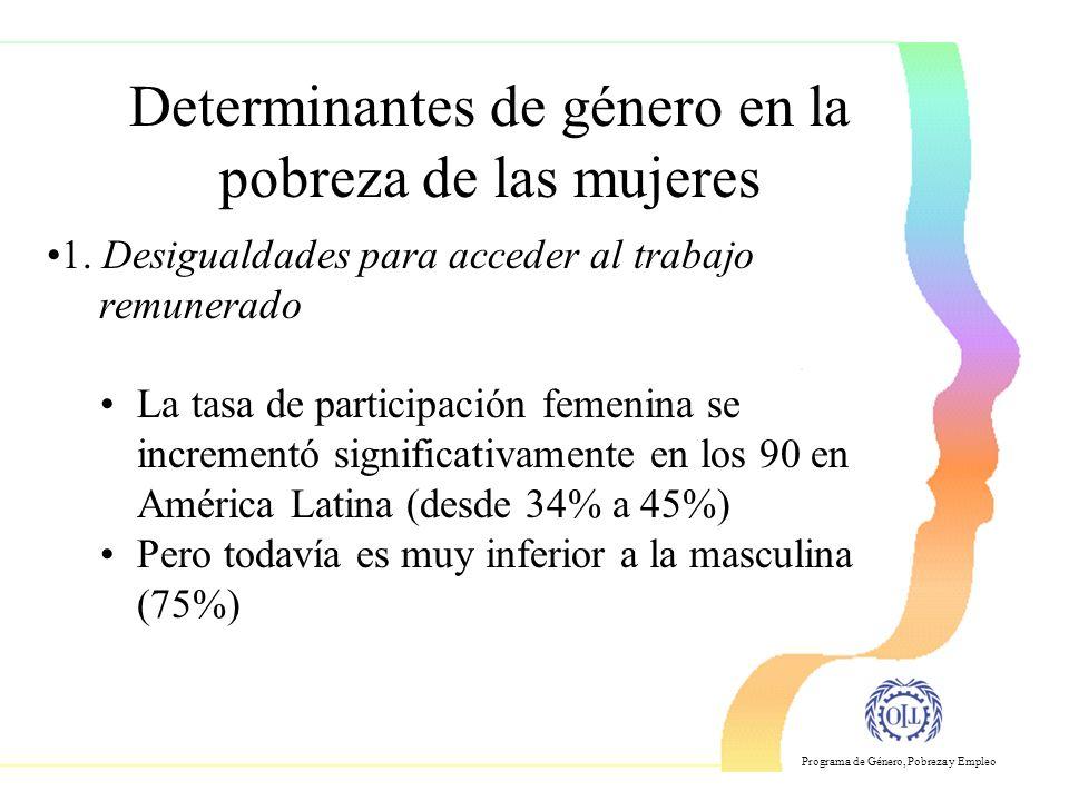 Determinantes de género en la pobreza de las mujeres