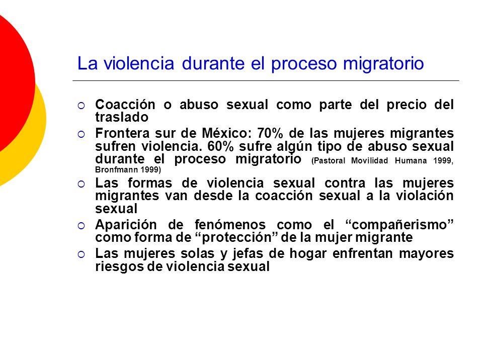 La violencia durante el proceso migratorio