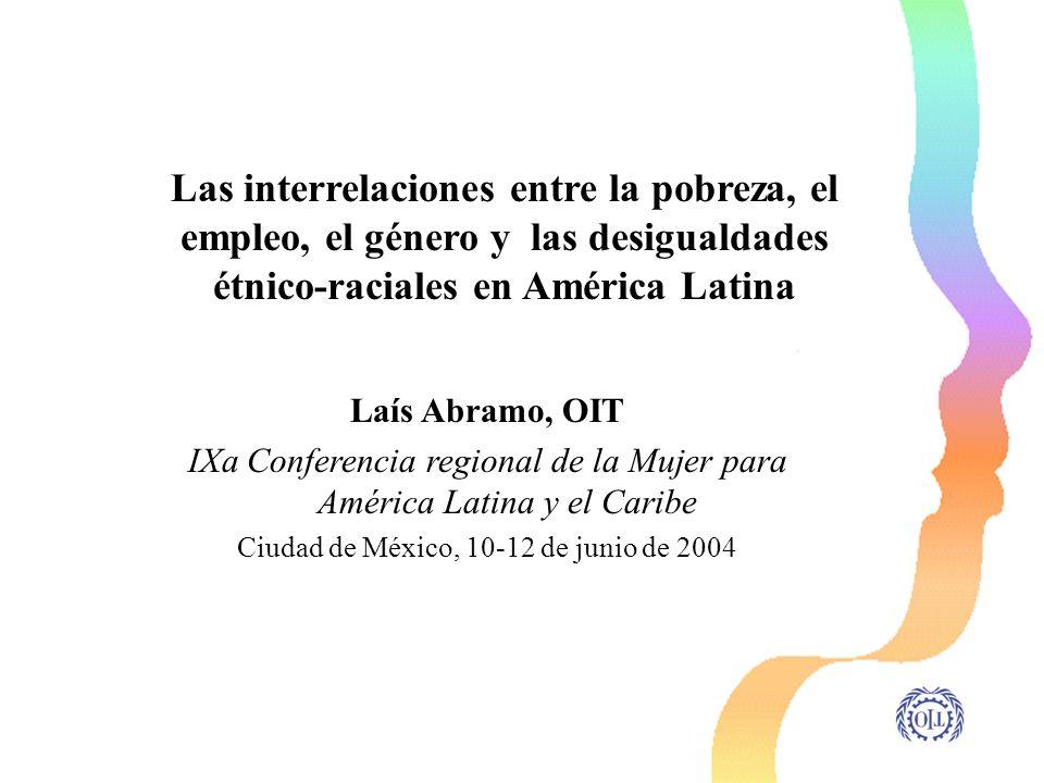 Las interrelaciones entre la pobreza, el empleo, el género y las desigualdades étnico-raciales en América Latina