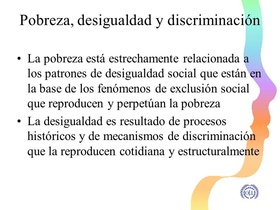 Pobreza, desigualdad y discriminación