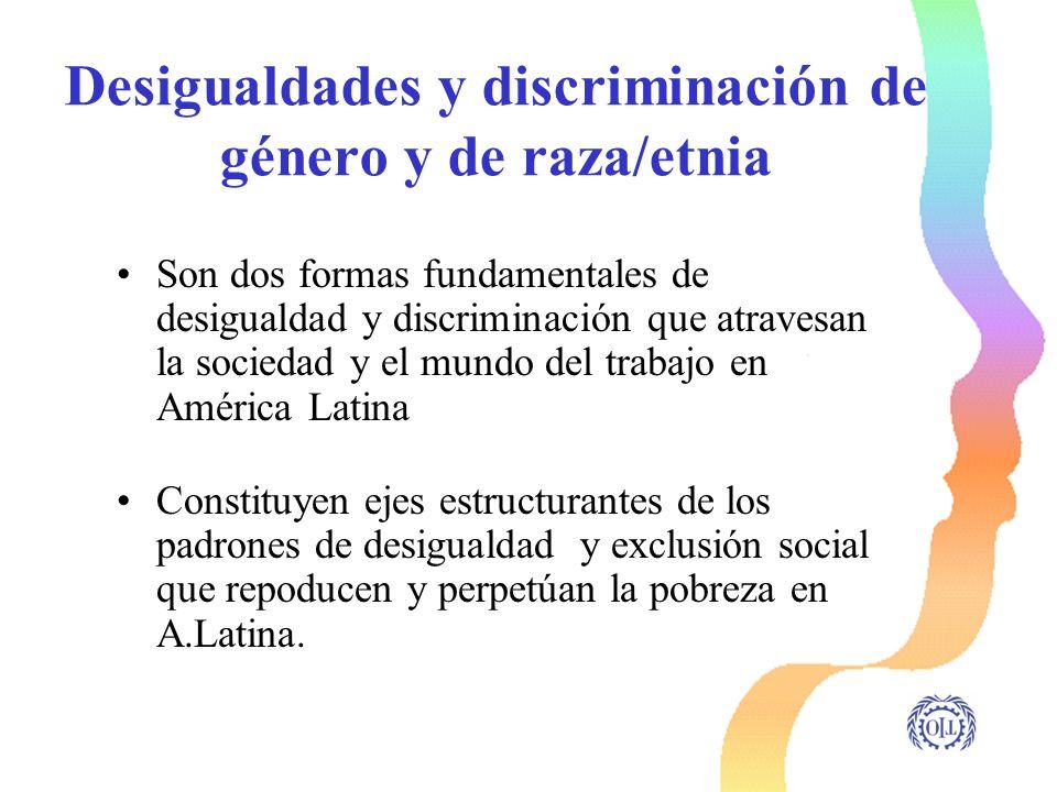 Desigualdades y discriminación de género y de raza/etnia