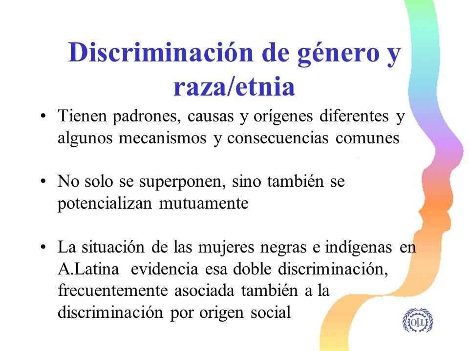 Discriminación de género y raza/etnia