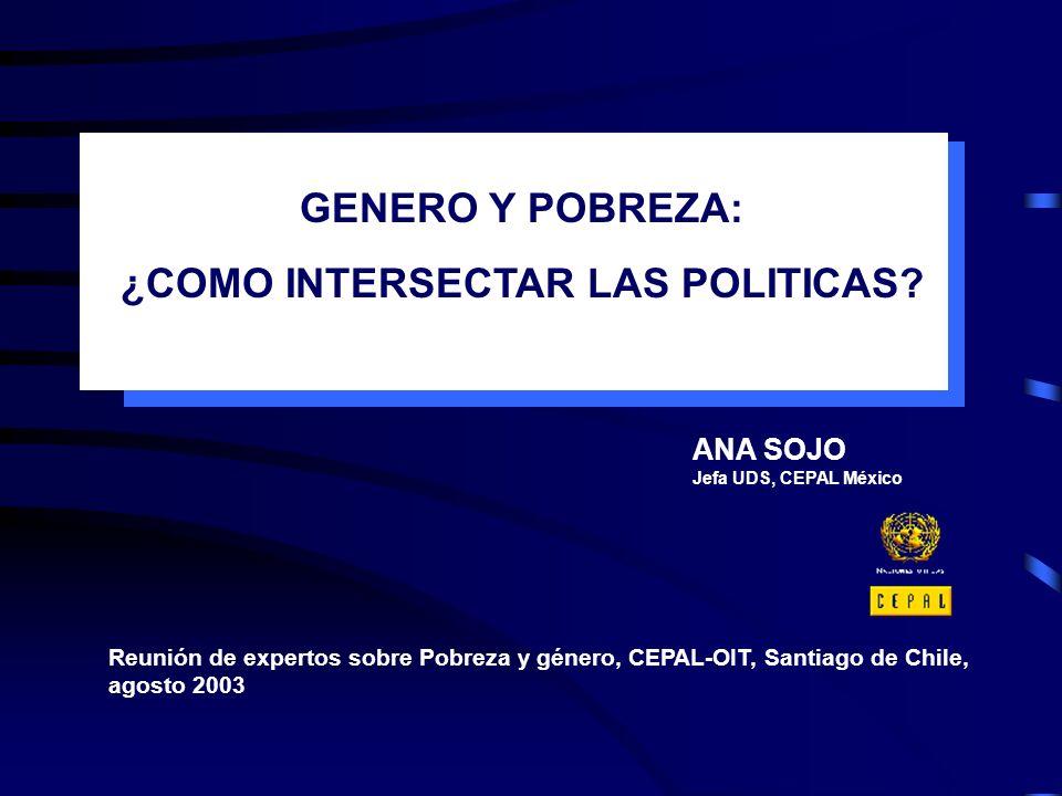 ¿COMO INTERSECTAR LAS POLITICAS