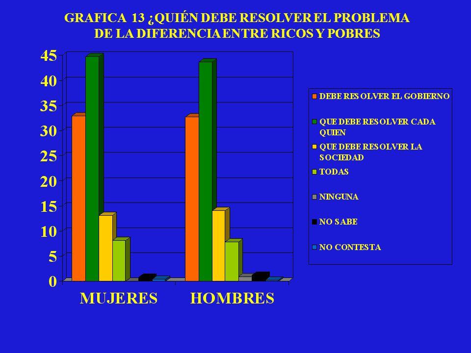 GRAFICA 13 ¿QUIÉN DEBE RESOLVER EL PROBLEMA