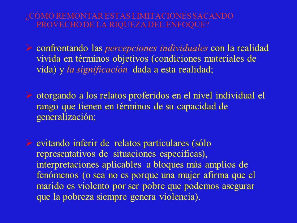 ¿CÓMO REMONTAR ESTAS LIMITACIONES SACANDO PROVECHO DE LA RIQUEZA DEL ENFOQUE