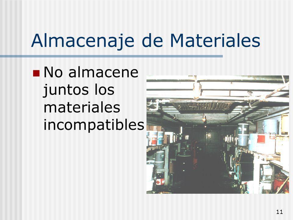 Almacenaje de Materiales