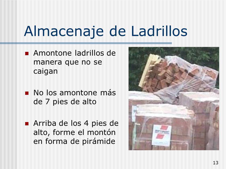 Almacenaje de Ladrillos
