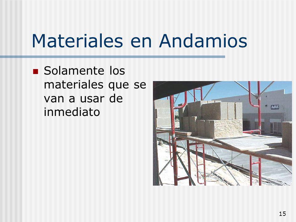 Materiales en Andamios