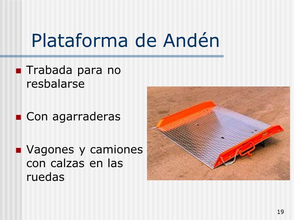 Plataforma de Andén Trabada para no resbalarse Con agarraderas