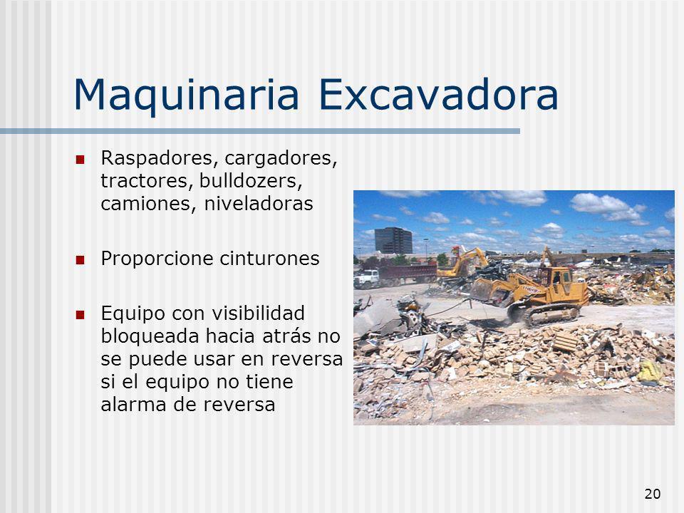 Maquinaria Excavadora